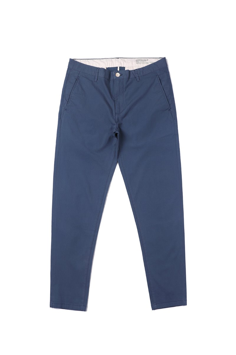 ELLA COTTON CHINO PANTS-NAVY