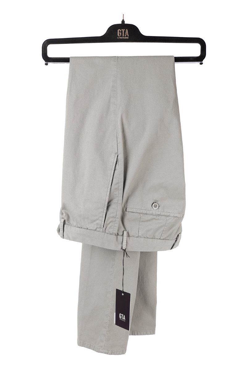 GTA WASHED COTTON PANTS-LIGHT GRAY