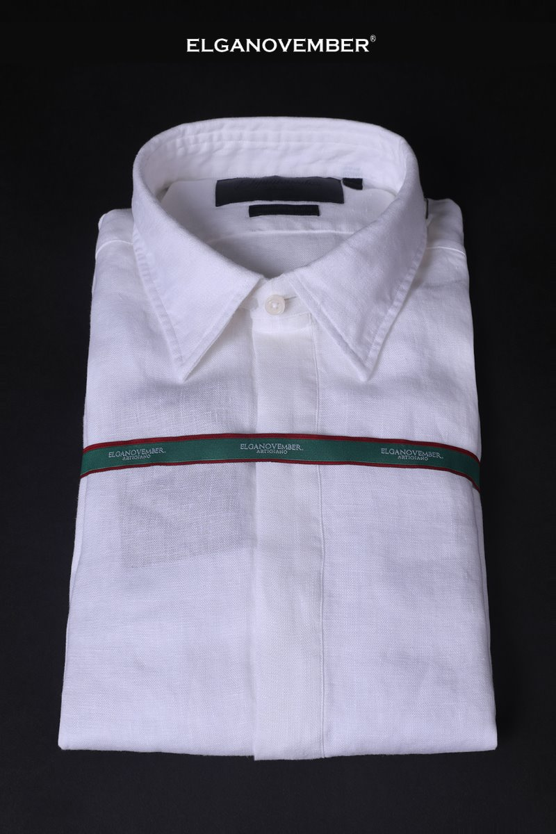 499 FRENCH LINEN PULLOVER SHIRT-WHITE