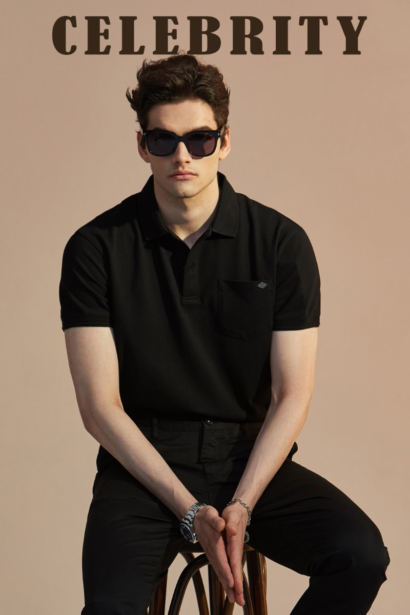 MAY COLLAR T-SHIRTS-BLACK