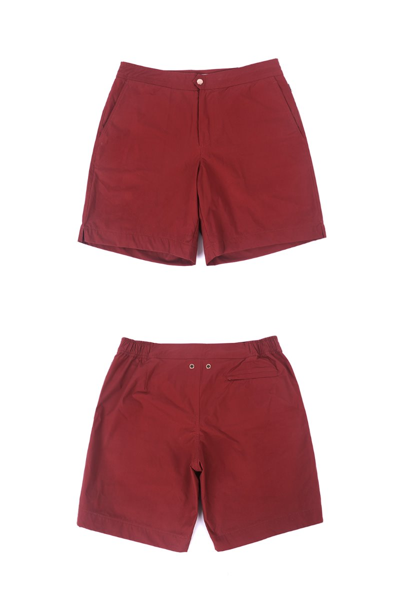 HERI SHORTS-HERITAGE RED