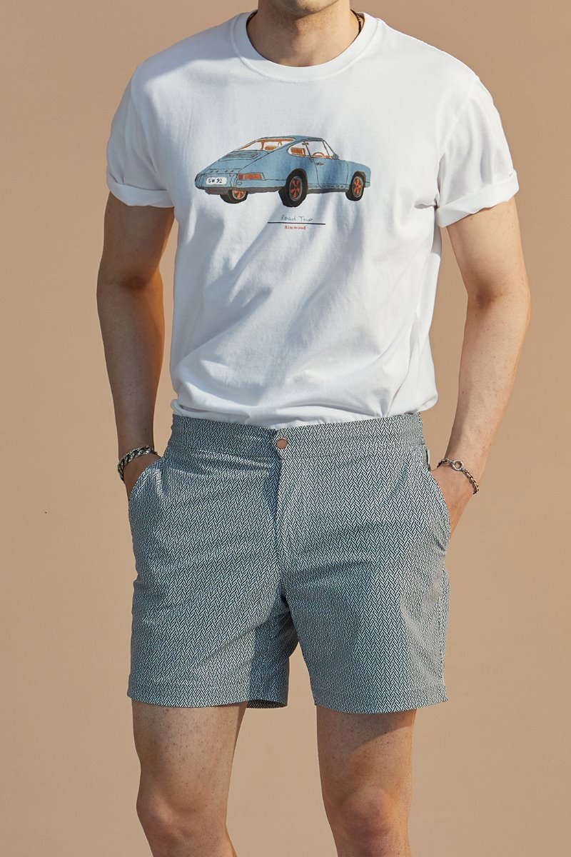 MORO PATTERN SHORTS-GREY