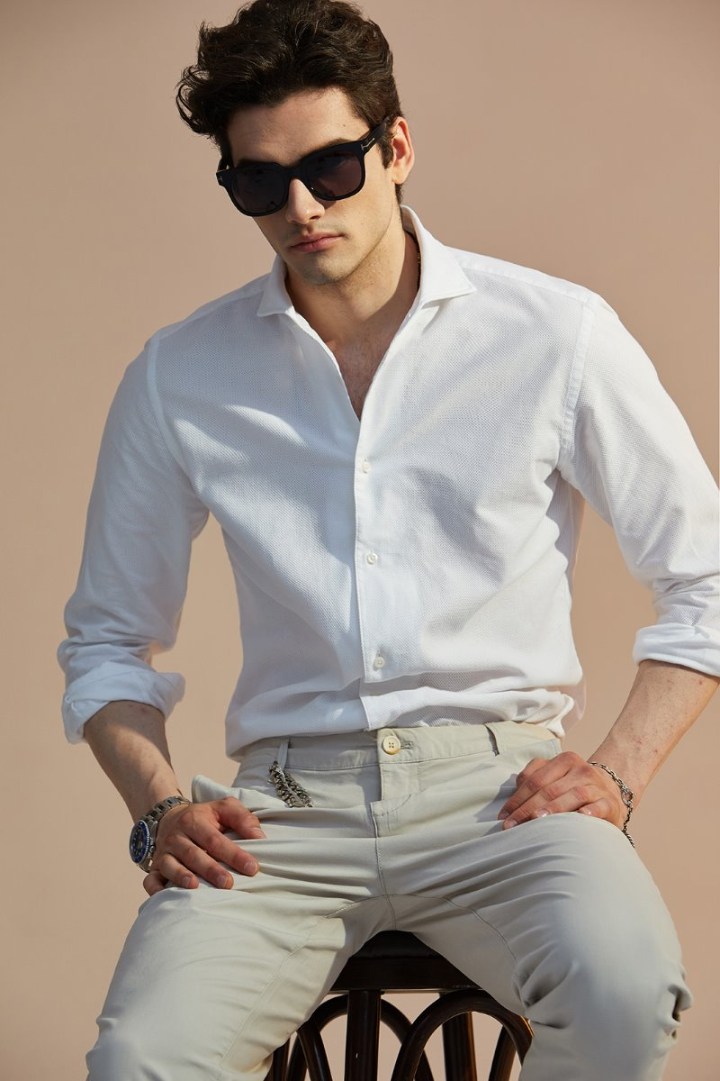 538 ITALIA ONE-PIECE COLLAR SHIRT-WHITE출시기념 한정수량 10%할인