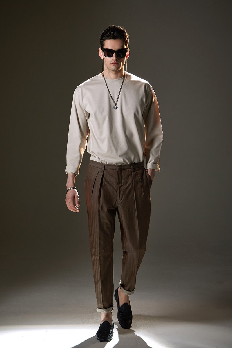 PASINI Pio Filo Pants-Brown