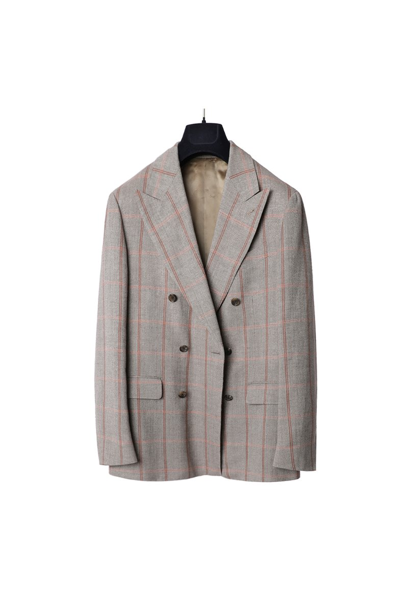 LARDINI Pable Filo Check Double Jacket
