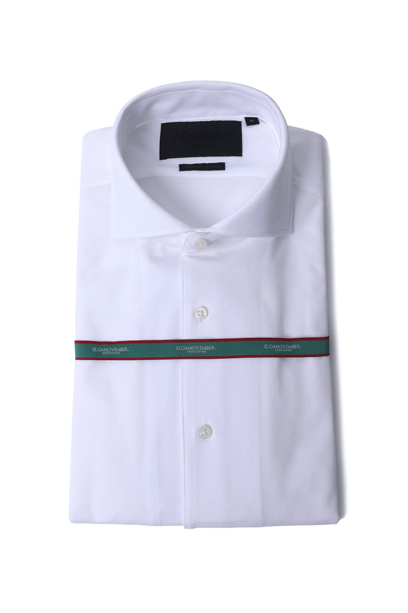 544 ITALIA ONE-PIECE COLLAR SHIRT-WHITE적극추천-2/3이상 판매완료