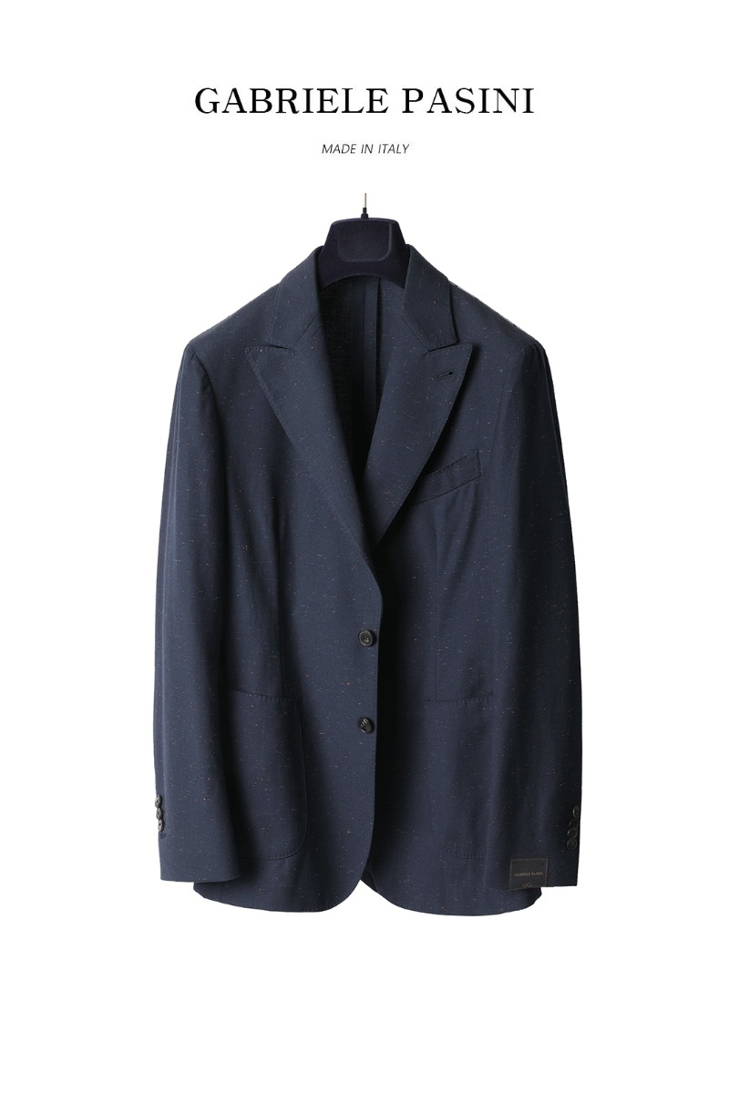 PASINI Variega Single Jacket-Navy